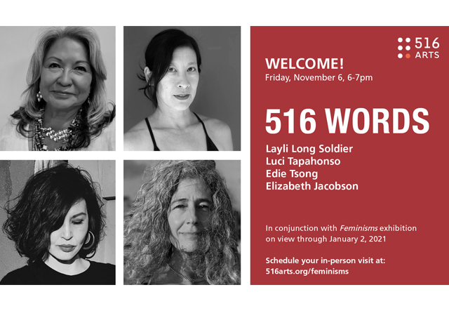 516 WORDS: Layli Long Soldier, Luci Tapahonso, Edie Tsong, & Elizabeth Jacobson exhibition image